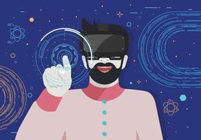 Vecteur de l'expérience de réalité virtuelle