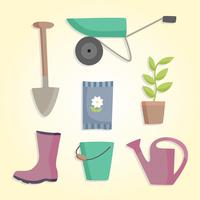 Vecteur d'outils de jardinage