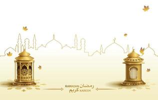 salutations islamiques modèle de conception de carte ramadan kareem vecteur