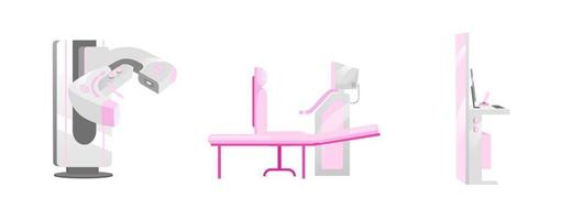 Ensemble d'objets d'équipement de mammographie