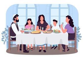 Bannière web vecteur 2d culture juive, affiche