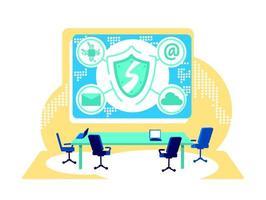illustration vectorielle de cyber contrôle concept plat vecteur