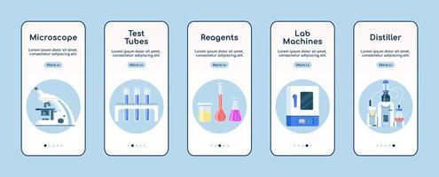 Écran d'application mobile d'intégration d'équipement de laboratoire