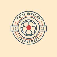 Coupe du monde de football Vintage vecteur