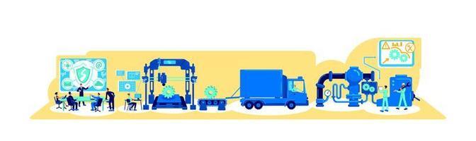 illustration vectorielle de transformation numérique concept plat vecteur