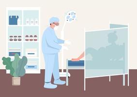 illustration vectorielle de grossesse checkup plat couleur vecteur