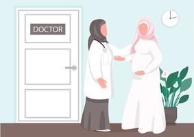 vecteur plat de consultation prénatale