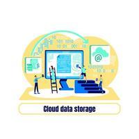 vecteur de concept plat de centre de données
