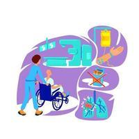 illustration vectorielle de concept plat oncologie