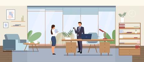 illustration vectorielle de bureau d & # 39; affaires vecteur