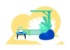 illustration vectorielle de wifi zone concept plat vecteur