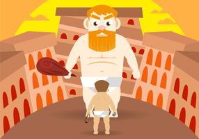 David et Goliath Vector Illustration