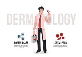 Illustration vectorielle de dermatologue médecin vecteur