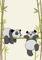Panda mignon de créatures de sommeil
