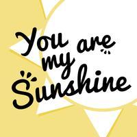 Tu es mon soleil vecteur