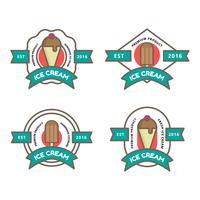 Logo de la boutique de crème glacée vecteur