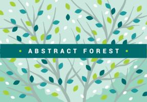 Forêt abstraite vecteur