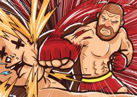Illustration de combat ultime vecteur