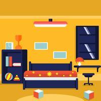 Illustration vectorielle de chambre des enfants