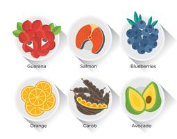 Set de vecteur de Super Foods