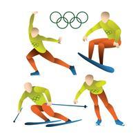 Sports olympiques d'hiver vecteur