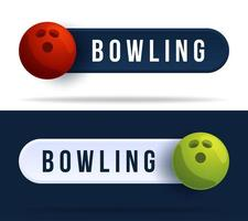 boutons de commutateur à bascule de bowling. vecteur