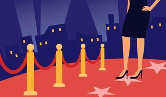 Vecteurs emblématiques de tapis rouge d'Hollywood vecteur