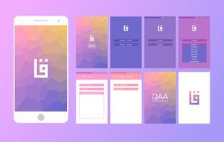 Dictionnaire arabe Mobile App UI Vector