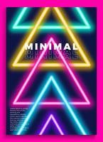 affiche néon, design rétro, motif de science-fiction des années 80, fond futuriste. modèle de flyer. formes, mouvement, abstrait, illustration vectorielle géométrique pour invitation à une fête de musique, bannière minimaliste, impression de 1980.