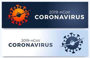 affiche de vecteur de vol annulé avec plaine, virus 2019-ncov et signe interdit. illustration de vol annulé, nouvelle maladie à coronavirus pandémique. impact du coronavirus covid-19.