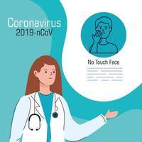 bannière de prévention des coronavirus avec médecin