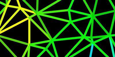 modèle de triangle abstrait vecteur bleu foncé, vert.