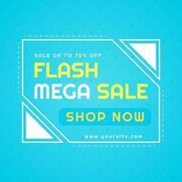 affiche de vente flash méga fond de vente moderne