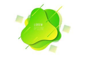 Élément de bannière fluide dégradé abstrait jaune vert moderne