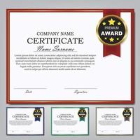 modèle de certificat et arrière-plan de conception de diplôme de récompense.