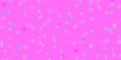 oeuvre naturelle de vecteur rose clair, bleu avec des fleurs.
