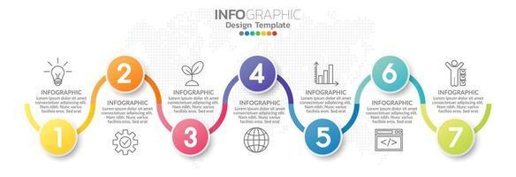 éléments infographiques pour le contenu, diagramme, organigramme, étapes, parties, chronologie, flux de travail, graphique. vecteur