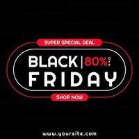 bannière de vente conception de vendredi noir conception de ligne arrondie