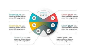diagramme circulaire décrivant le processus de travail vecteur