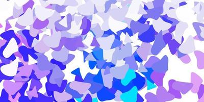 toile de fond de vecteur violet clair avec des formes chaotiques.