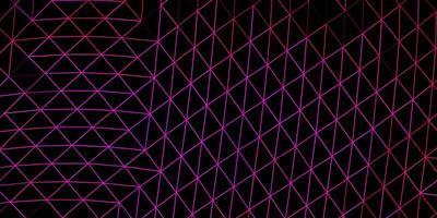 modèle de mosaïque triangle vecteur rose foncé.
