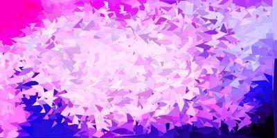 modèle de triangle abstrait vecteur violet clair, rose.