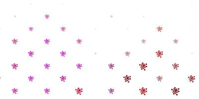 modèle vectoriel violet clair, rose avec des signes de grippe