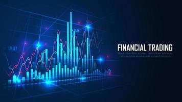 marché boursier ou graphique de trading forex dans le concept graphique vecteur