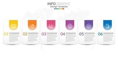 infographie pour concept d'entreprise avec des icônes et des options ou des étapes.