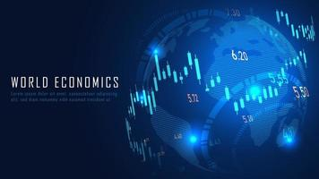 financière mondiale dans le concept graphique