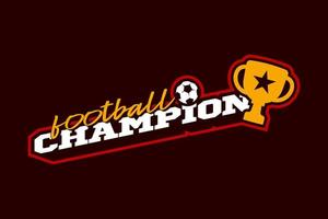 logo vectoriel de football champion 2020