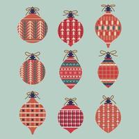 ensemble de décorations de boules de noël