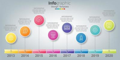 infographie dans le concept d'entreprise avec 8 options, étapes ou processus.