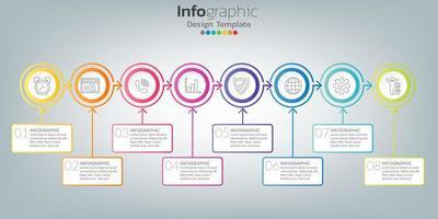 infographie dans le concept d'entreprise avec 8 options, étapes ou processus. vecteur